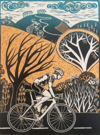 Diana Croft - All the Way, Linocut