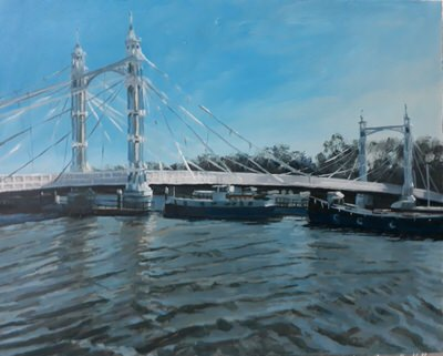 Lesley Dabson - Albert Bridge Winter Light