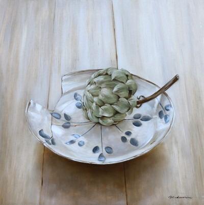 Tanja Moderscheim - 17th C Haarlem plate with artichoke