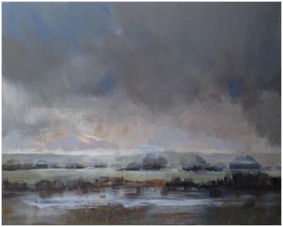 Louise Burnett - River Wey Misty Morning