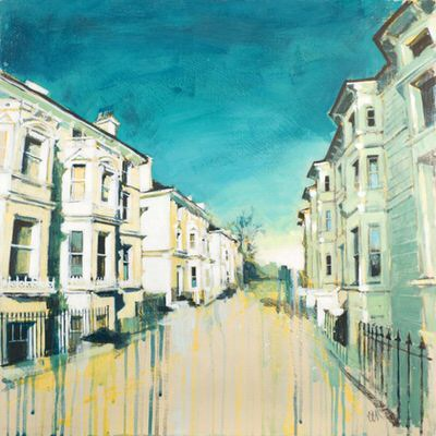 Camilla Dowse - Tall Townhouses Acrylic Gesso