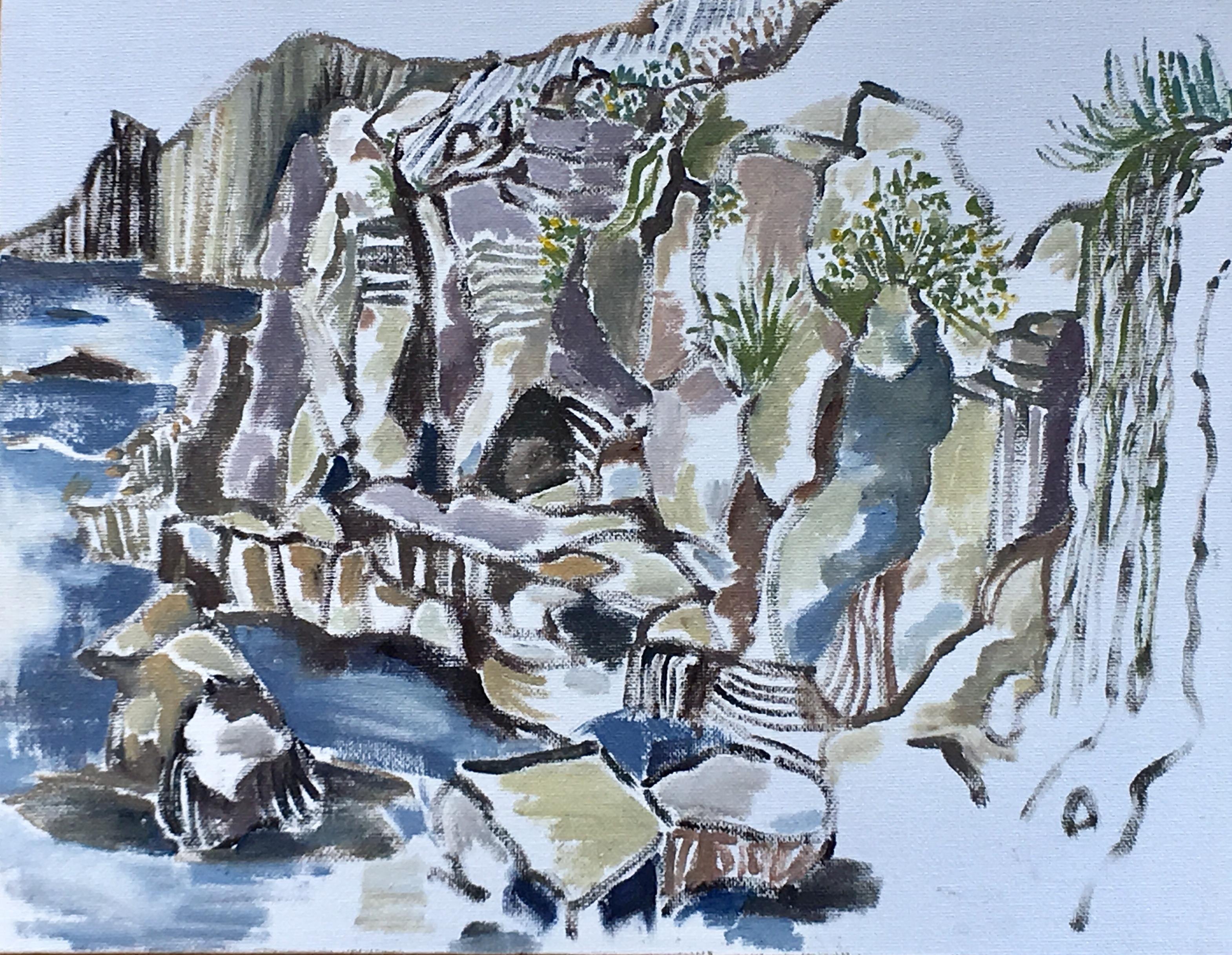 Jessica Saraga - Rocks at Waterman's Bay