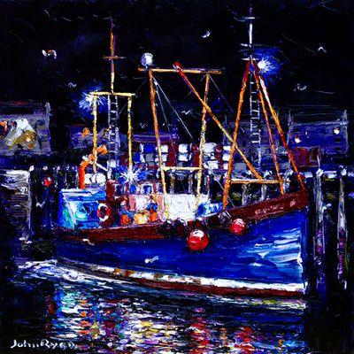 John Ryan - Sorting the Catch by Arc Light, Mallaig
