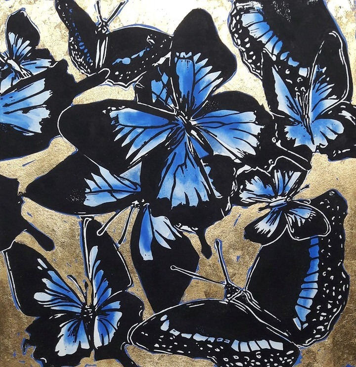 athertongreen gallery - Blue Morpho by Shelley Dyer Gibbins