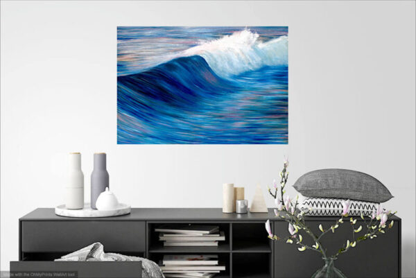 Evening tide is Original oil on canvas: Width 100cm Height 70cm or 39.5ins x 27.5 ins. Unframed. Signed. Comes with a certificate of authenticity
