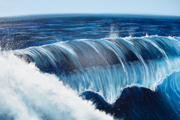 Turquoise Sea Wave giclee fine art limited edition print available in 2 sizes