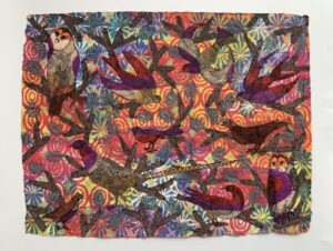 Gouache & Chinese ink on cotton rag handmade paper. W 86cm x H 68