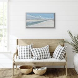 beach painting seascape in beach house setting