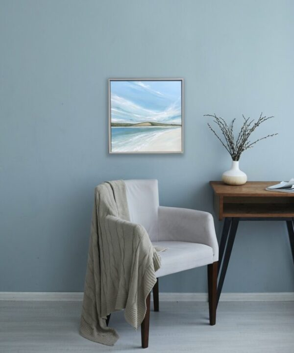 painting of Camel Estuary cornwall in situ