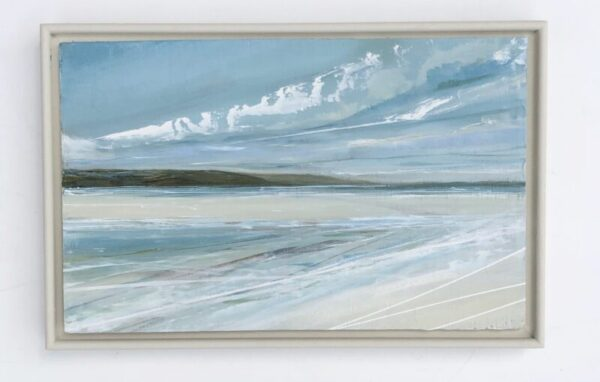 luskentyre beach scotland blue sky headland sea sand